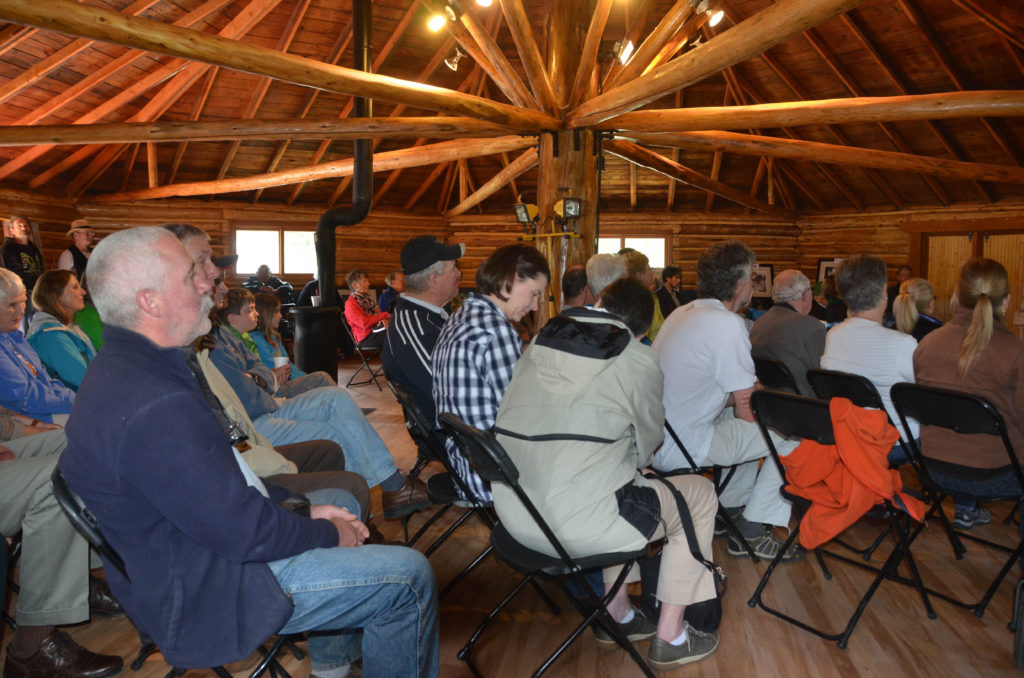 Bragg Creek & Greater Area Historical Society annual general meeting on May 28th in the Round Hall which has been exquisitely restored by the Teghtmeyer family.